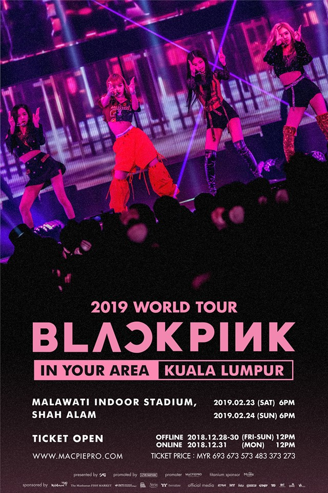 Blackpink Announces 2 Days In Malaysia For Their 2019 World Tour K Soul Magazine